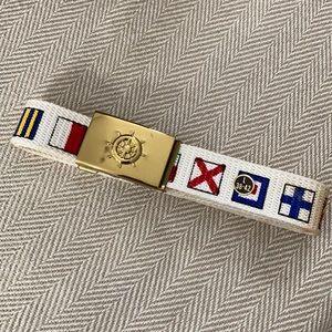 belt brass buckle international nautical flags